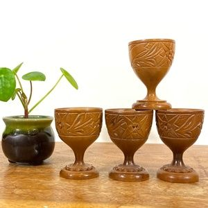 Mini Wooden Cups - Set of 4